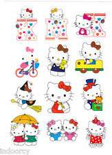 Waterproof Laptop Cute Hello Kitty  Wall Luggage Stickers Car iPad iPhone 12pcs