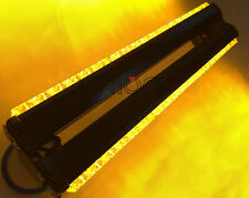 DOUBLE SIDE 36 LED WORK LIGHT BAR BEACON WARNING EMERGENCY STROBE LIGHTS AMBER