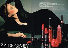 PUBLICITE ADVERTISING 015  1979  GEMEY rouge à lèvres vernis ongles BIZZ ( 2p)