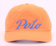 POLO by Ralph Lauren SCRIPT Spellout Leather Strapback Hat Sailing Tommy Dad Cap
