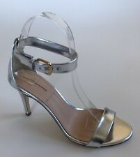 JCrew Mirror Metallic High Heel Evening Sandal 7.5 Silver Pumps Heels (SEE DISC)