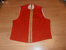 Vtg 1970s Bespoke Royal Tank Regiment Offr's  Mess Dress Waistcoat Size 34-36""