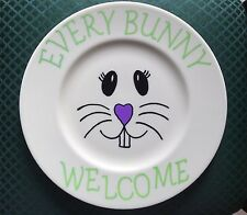 EVERY BUNNY WELCOME DECORATIVE PLATE - HAPPY EASTER GIFT - WALL DECOR