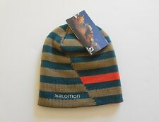 Salomon Stripe Reversible Beanie New