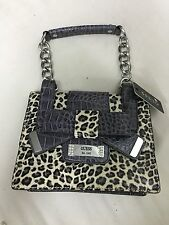 Women's Guess Leopard Print Laurita Purse With Bow Chain Strap Satchel