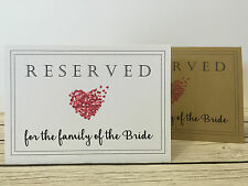 Rustic/Vintage/Shabby Chic 'tent fold' Reserved sign