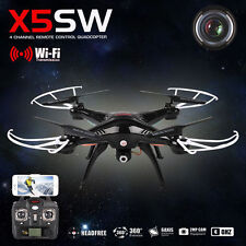 Syma X5SW RC Quadcopter WIFI FPV 2.4Ghz 4CH 6-axis  HD Camera RTF Black