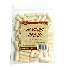 AFRICAN DREAM HERB 140 Capsules 56 grams Entada rheedii seed powder 400mg caps.