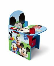 Delta Mickey Mouse Desk with Chair and Toy Storage Bin Box Organizer NEW NIB