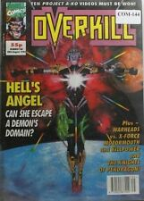 UK MARVEL COMIC OVERKILL WITH GIANT POSTER # 10 FROM 1992 COM-144