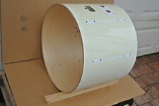 """1980s PEARL 22"""" EXPORT BASS DRUM SHELL in WHITE for YOUR DRUM SET! #V839"""