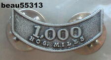 HARLEY OWNERS GROUP HOG H.O.G. 1,000 MILEAGE MILE VEST JACKET HAT PIN