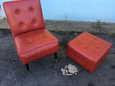 vintage retro 1960s Chair And Footstool Delivery Available