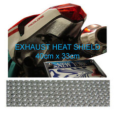 Motorcycle Motorbike Car Self Adhesive Exhaust Reflective Heat Shield 40 x 33cm