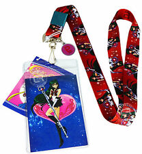 Sailor Moon Sailor Pluto Lanyard w/ Badge ID Holder & Pluto Charm New Official