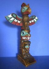 "Handsome Hand Painted Resin 8.5"" Canadian Totem Pole"