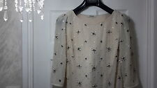£160 Alice Temperley Beaded Dress. Cream. Size 10uk 38eur. Buy New.