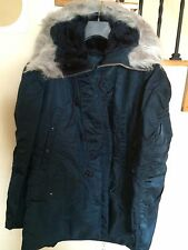 Brand New Genuine Alpha AF N3B Snorkel Parka Made in USA Navy Blue