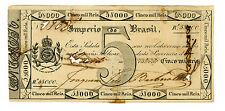 Brazil ... P-A152b ... 5 MIL REIS ... (L.1833) ... *VF*
