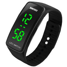 Armbanduhr LED Digital Uhr Damen Herren Kinder Sport Trend Silikon Watch Uhren