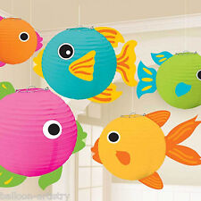 5 Tropical Party Hanging Ocean Sea Fish Paper Ball Globe Lantern Decorations