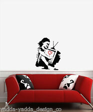 "WALL - TV Girl - Wall Vinyl Decal (16""w x 22""h) (BLACK w RED)"
