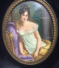 Antique Miniature Portrait of Madame Juliette Recamier (1777-1849)