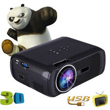 Black 1000Lumens Portable 3D Projector Home Cinema Theater HD LED VGA USB SD AV