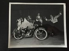 RARE VINTAGE CIRCUS FREAK Lemkes Monkeys in Dresses Riding A Mortorcycle