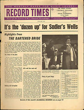 RECORD TIMES NEWSPAPER 1963 01 JANUARY vaughan williams/barbirolli//etc