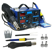 2 in 1 Soldering Iron Rework Stations SMD Hot Air Gun Desoldering Welder 862D+