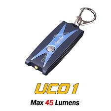 Fenix UC01 USB Rechargeable NICHIA LED Key Chain Flashlight Torch w/ Clip Blue