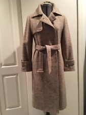 Woman's Warm Winter Trench Coat Parka Jacket, Double Breasted, Wool, Sz S, 42