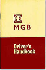MG MGB Tourer and GT: Owners' Handbook by Brooklands Books Ltd (Paperback, 1969)