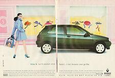 Publicité Advertising 1992  (Double page)  RENAULT CLIO S