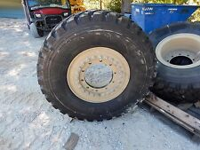 "NEW Michelin XZL 395/85R20 46"" tall tires on Aluminum wheels M35A2 M35A3"