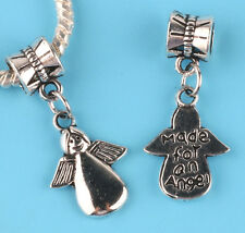 2pcs Tibetan silver Angel girl Charm bead fit European Bracelet Pendant #V06