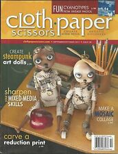 Cloth Paper Scissors magazine Steampunk art dolls Mosaic collage Mixed media