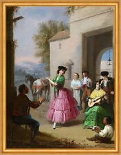 Cheering at the Gates of the Farm Manuel Cabral Musik Klatschen Hof B A1 02844