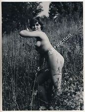 NATURAL NUDE WOMAN OUTDOOR / NACKTE FRAU IM FREIEN * 60s Photo by SEUFERT