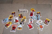 HAND-MADE DOLLS' HOUSE 1/12TH SCALE TAROT CARDS AND BOX