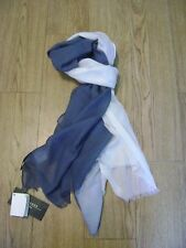 Max Mara scarf or sarong.Extra large.RRP £75.Cotton blend.Lagenlook.Blue & white