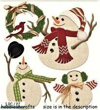 EK SUCCESS JOLEE'S BOUTIQUE 3-D STICKERS - CHRISTMAS PLAYFUL SNOWMEN