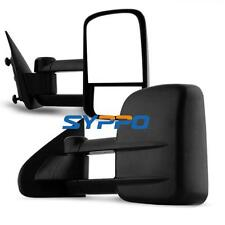 14-16 Silverado Sierra Pickup Towing Manual Telescoping Mirrors Set LH RH Black