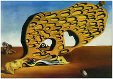 Das Ratsel der Begierde - Signed Salvador Dali Surrealism Oil Painting On Canvas