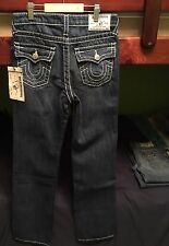 Boys True Religion Straight Natural Big T W/ Flap Pockets Jeans 12 NWT LAGUNA