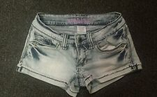 HYDRAULIC WOMEN'S JEAN SHORTS ~ SIZE 0 Flap Button Pocket. Ships Free!!