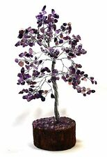 REIKI HEALING ENERGY CHARGED NATURAL AMETHYST 300 GEMSTONES CHIP CRYSTALS TREE