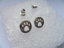 Lovely  Pair of Animal Paw   Silver Plated Stud Earrings