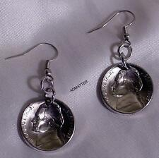 1981 JEFFERSON NICKEL EARRINGS DOMED COIN JEWELRY 36th BIRTHDAY ANNIVERSARY GIFT